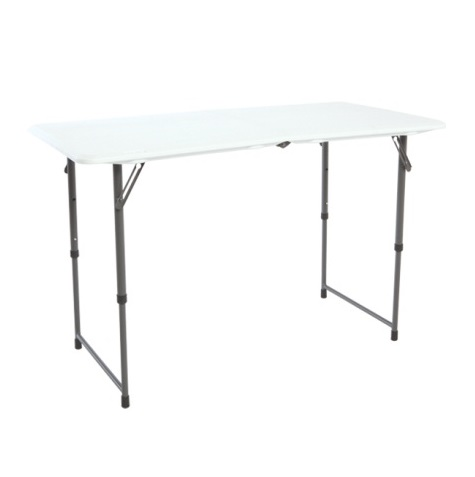 lifetime adjustable leg folding table 80218 4 foot trade show table. Black Bedroom Furniture Sets. Home Design Ideas