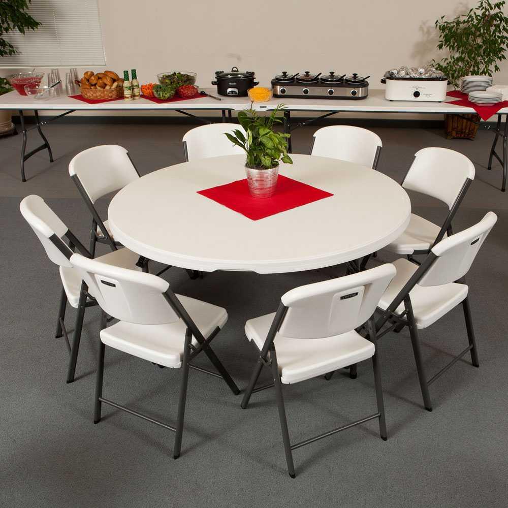 lifetime 880301 5 ft round banquet tables 15 pack on sale ships free. Black Bedroom Furniture Sets. Home Design Ideas