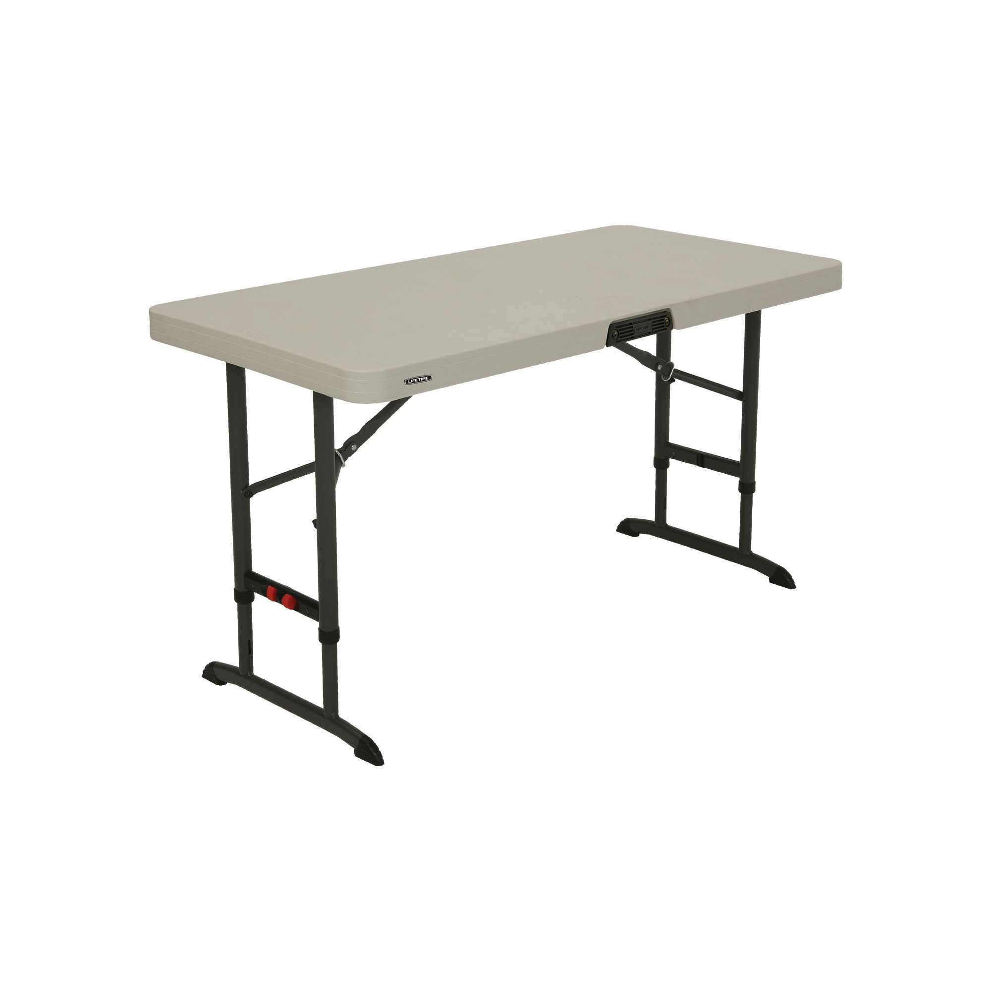 4 foot commercial adjustable folding table almond 80370 pallet pack. Black Bedroom Furniture Sets. Home Design Ideas