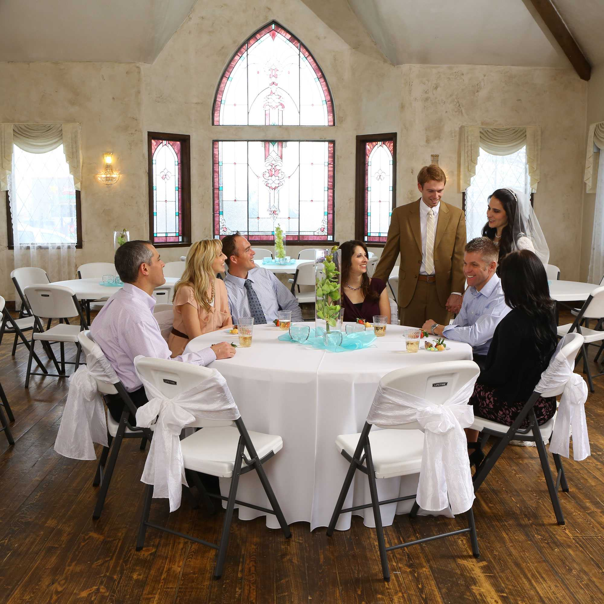 Lifetime 280435 Almond Color 60 Quot Round Banquet Table For