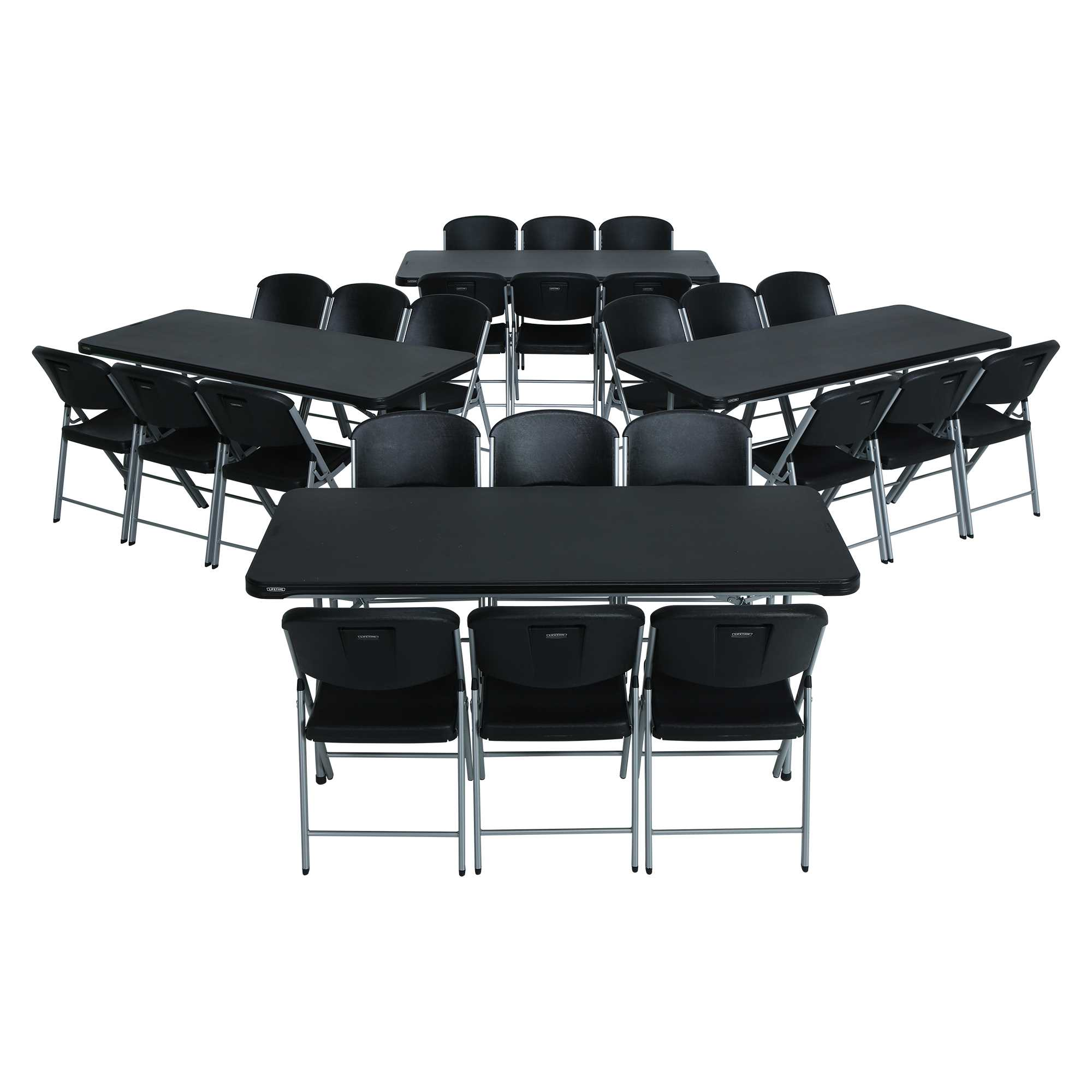 Lifetime 6 Ft Rectangular Tables Amp Chairs Black Fast