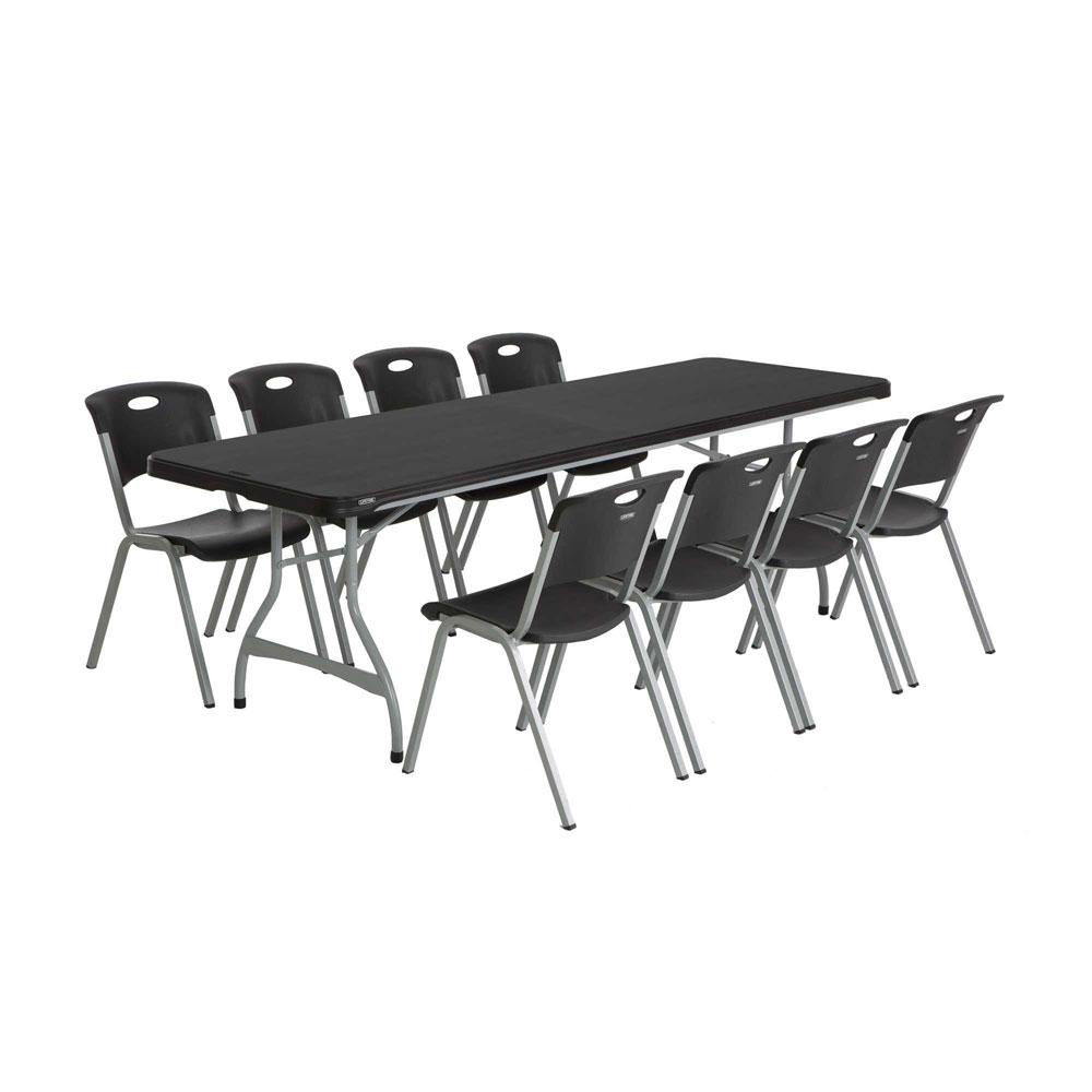 Lifetime 480462 Black Lifetime 8' 4-Pack Tables On Sale