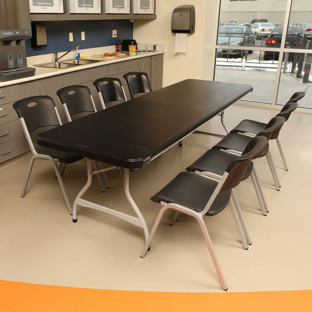 Lifetime 480462 Black Lifetime 8' 4-Pack Tables On Sale
