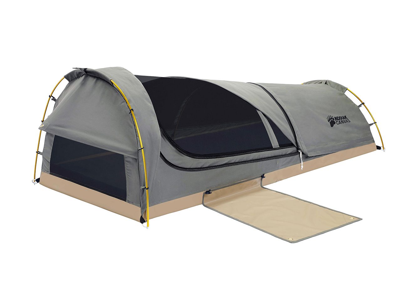 Swag 1 Person Canvas Tent With Free 2 Inch Camping Pad And