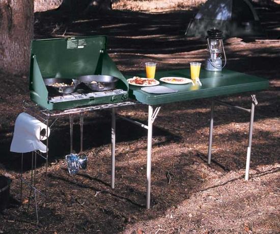Lifetime 8190 Portable Camp Table Stove Rack Camping