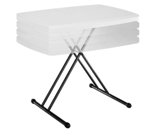 40 Lifetime Personal Folding Tables 8241 White Adjustable