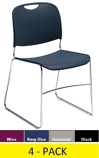 New Nps 8500 Plastic Stack Chair 4 Pack