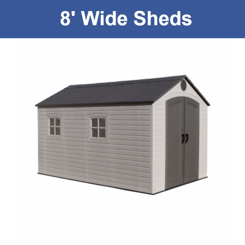 8 ft. Wide Storage Sheds