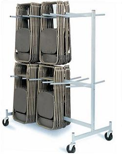 Folding Chair Storage Cart 2 Tier Chair Truck Raymond Products