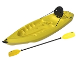 Daylite Kayaks - Sit-On-Top Kayaks Yellow 8 ft. Model Lifetime 90105