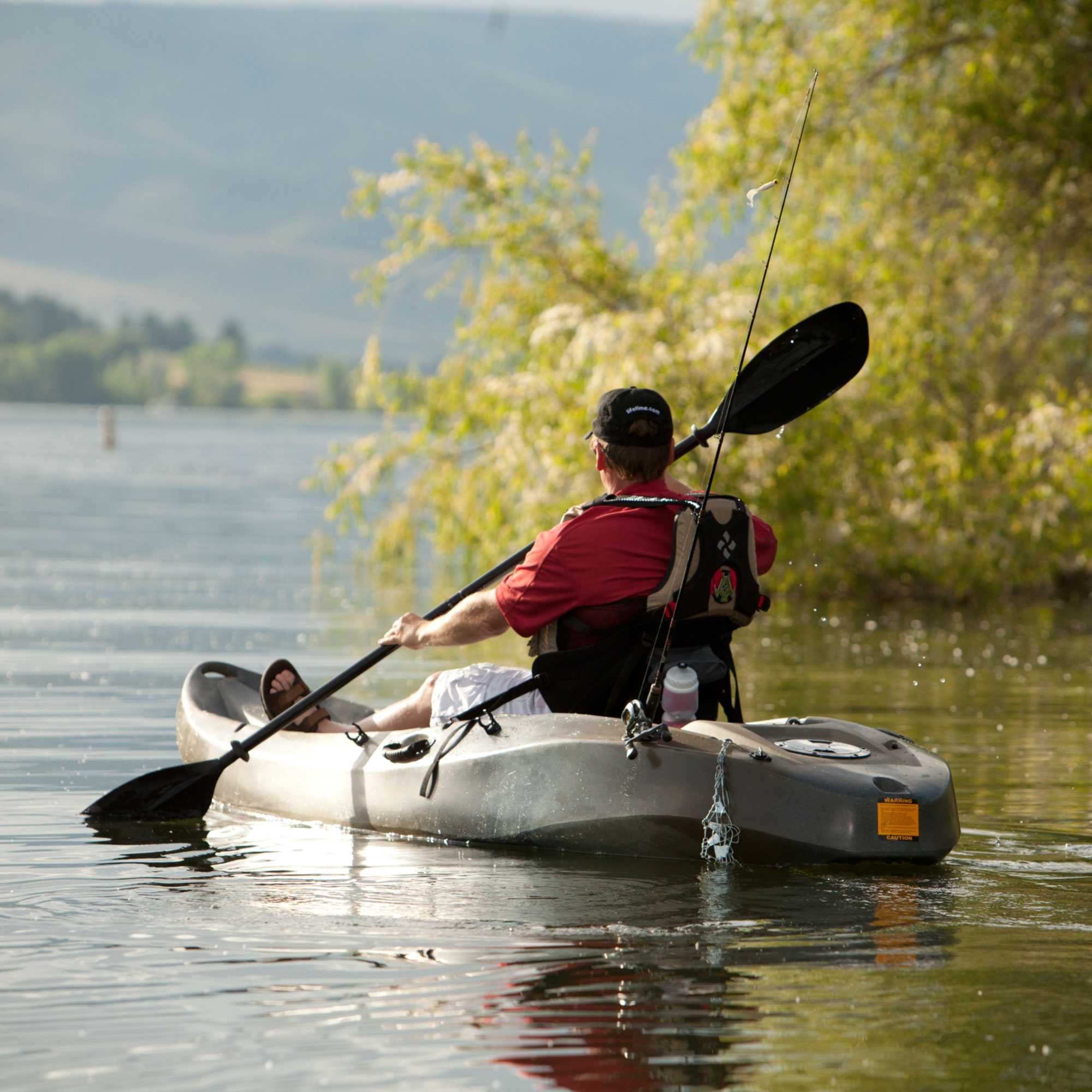 Lifetime camouflage kayak 10 foot 90157 sit on top for Sit on fishing kayak