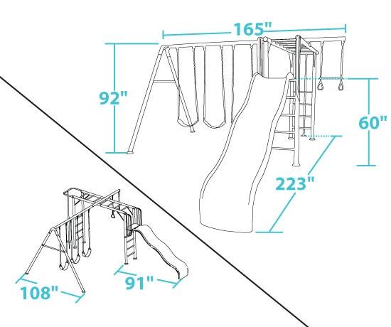 Lifetime 90143 Monkey Bar Play Set Playground With Slide