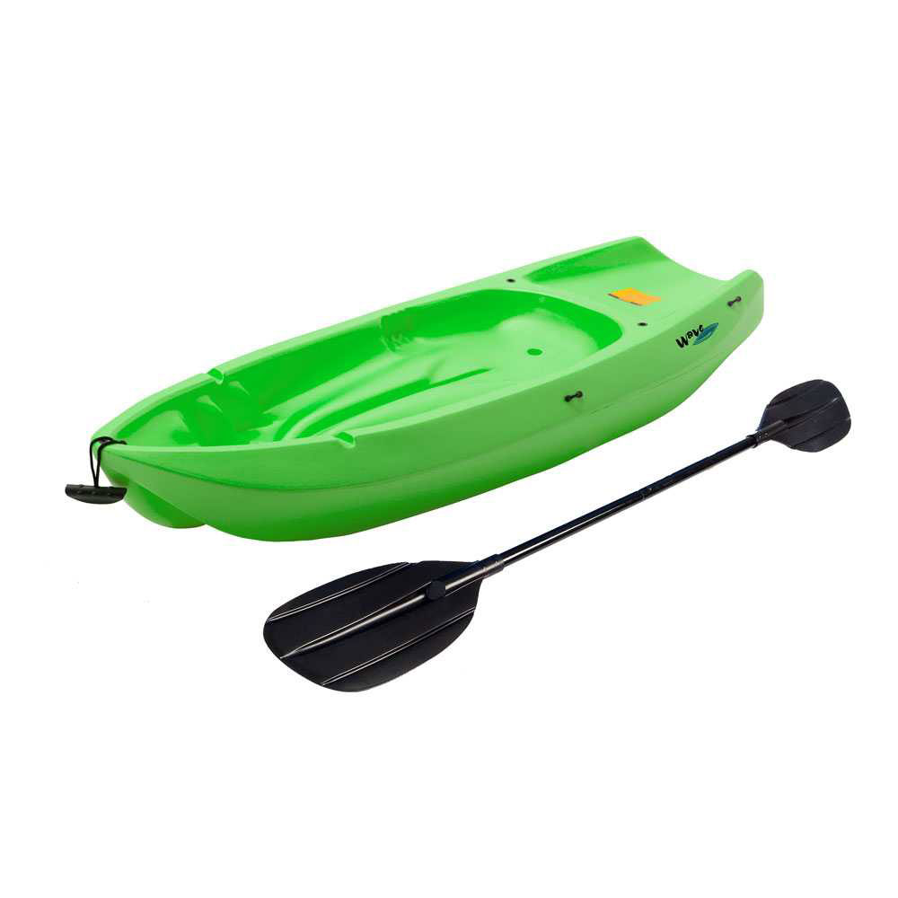 90477 6 Feet Youth Wave Kayak Lime Green Paddle