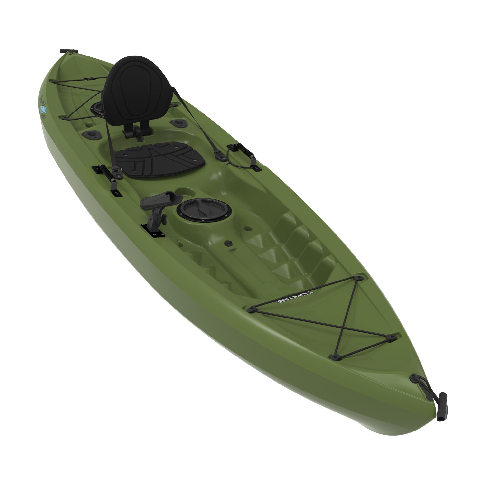 Lifetime Olive Angler Kayak On Sale Free Shipping Amp Free