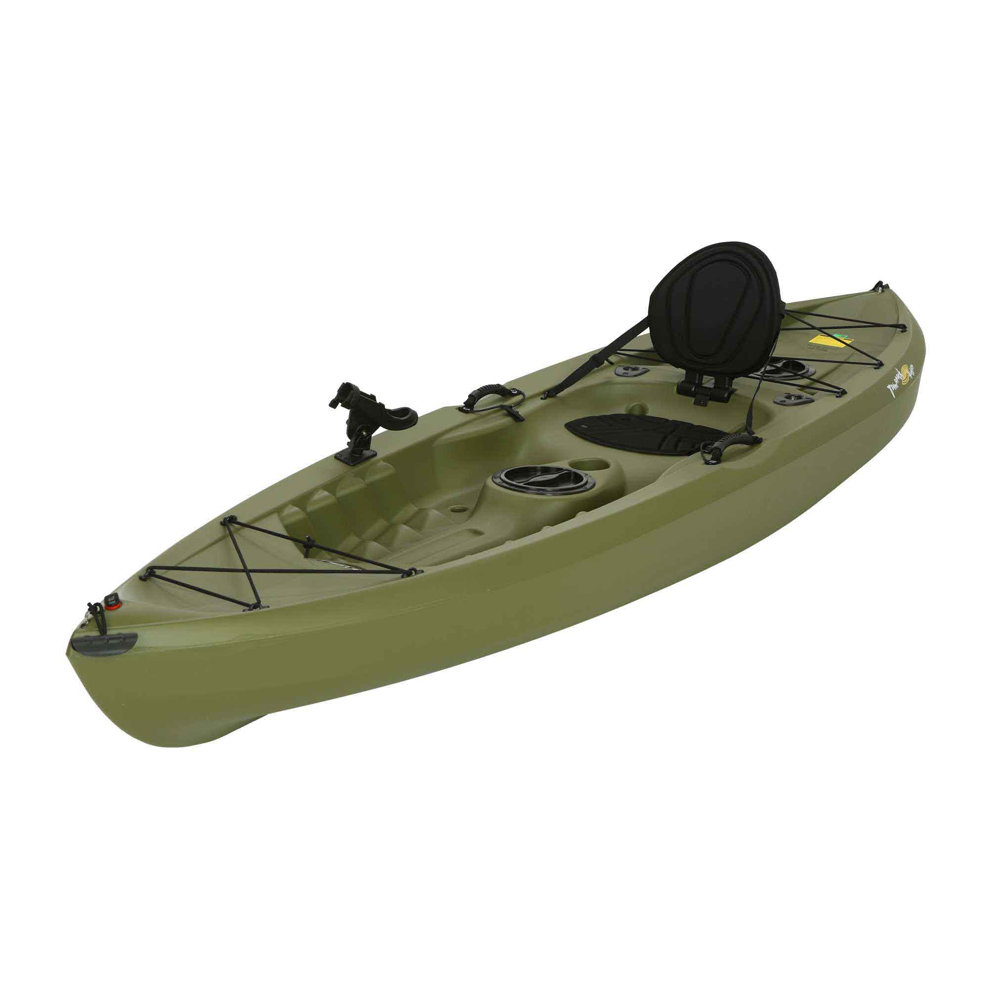 Lifetime olive angler kayak on sale free shipping free for Sit on fishing kayak