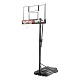 "90601 - Portable 52"" Clear Shatterguard Backboard and System"