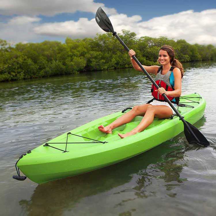 90534 lifetime 10 39 tamarack lime green kayak for Tamarack fishing kayak