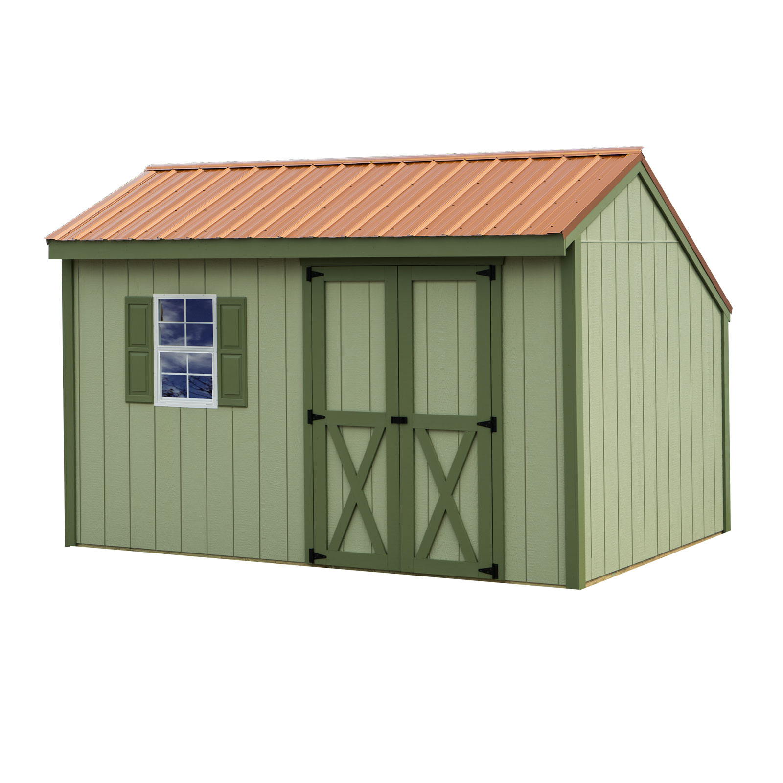 Best barns aspen 8ftx10ft wooden shed barn kit for 12x8 shed with side door