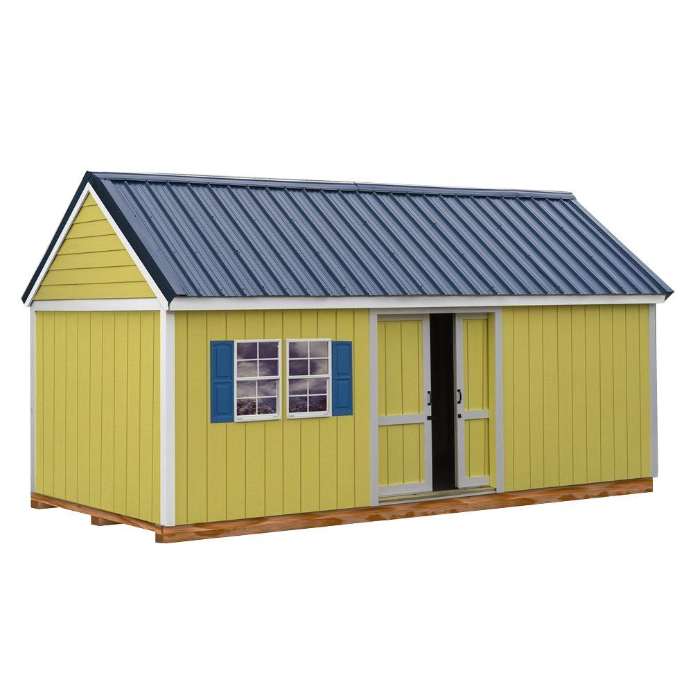 Best barns reynolds building systems brookhaven 10x20 for Metal barns kits