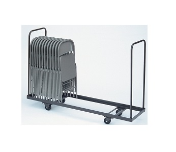 New Correll 20x72 Standing Folding Chair Storage Cart