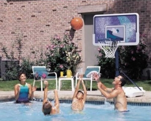 Lifetime Poolside Water Basketball Hoops Category Page.