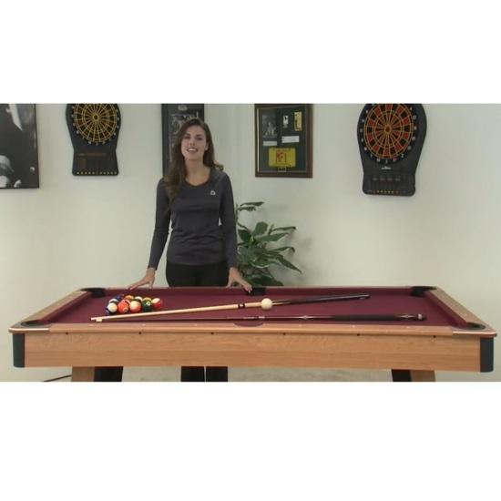 JPG; Assets/images/MFT200 Billiard Pool Table Minnesota Fats Set Up With  Woman Standing Next