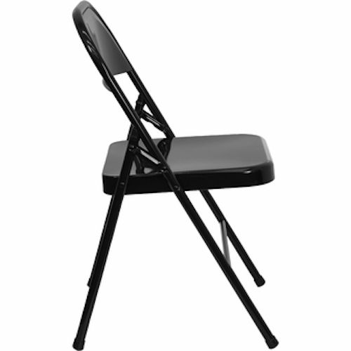 NEW ACT MC309AS 4 PACK Premium Metal Folding Chairs
