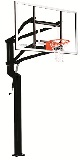 Goalsetter In-Ground Basketball Hoop External Captain 60 in Glass Goal