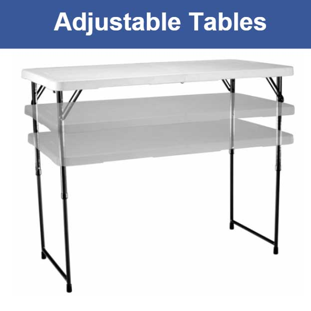 Lifetime Adjustable Tables