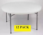 Round Folding Tables - Bm-60r 60 inch Gray Granite Top - 12 Pack