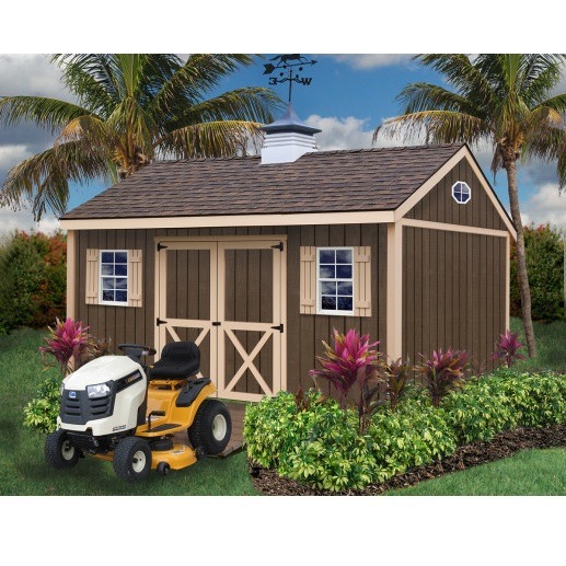Brookfield 12x16 ft best barns wood shed barn kit for Garden shed electrical kit