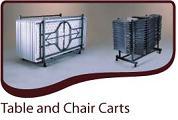 Table Carts, Chair Carts