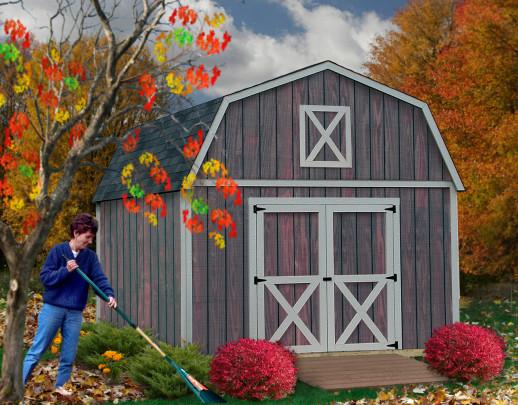 Denver 12x12 ft best barns wood shed barn kit for Complete barn home kits