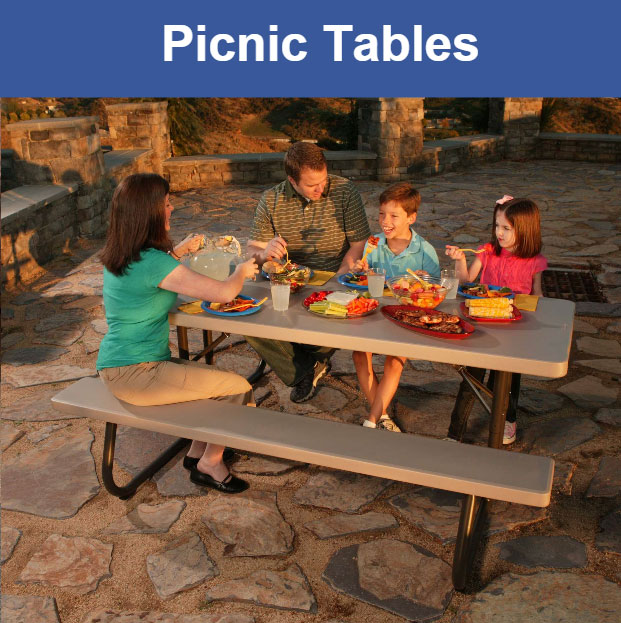 Lifetime Folding Picnic Tables