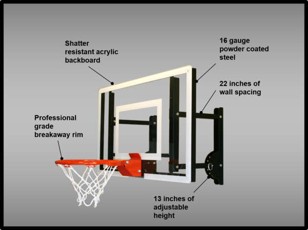 Ramgoal Adjustable Durable Indoor Mini-Basketball Hoop and ...