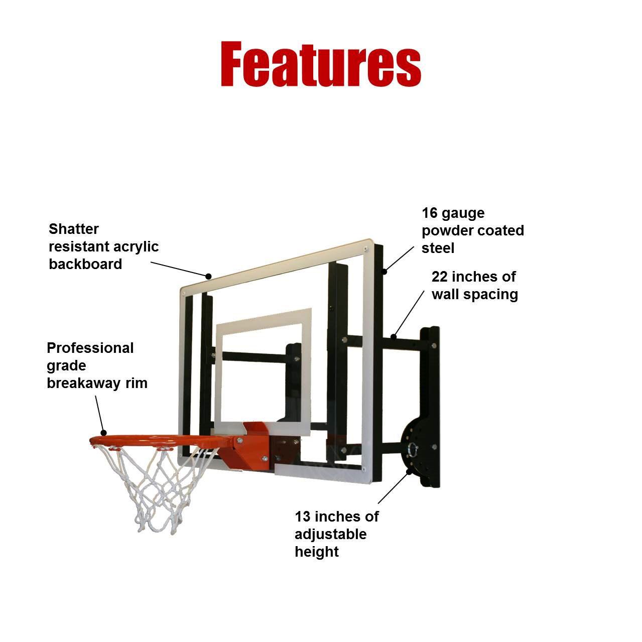 ramgoal adjustable durable indoor mini basketball hoop and ball