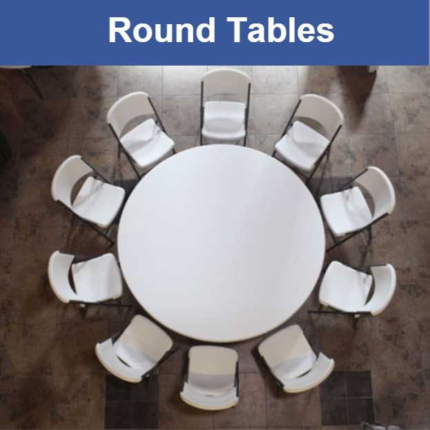 Lifetime Folding Tables Banquet Round Card and Church