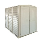 Duramax Yard Mate 00882 Storage Shed Vinyl 8x5.5 with Floor Kit