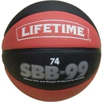 Lifetime Rubber Basketball Model 1052568 Black and Red Ball