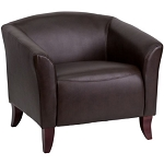 HERCULES Imperial Series 111-1-BN-GG Brown Leather Chair