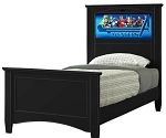 Lifetime 20277 Canterbury Twin (black) Lightheaded Bed *NEW*