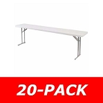 Plastic Conference Table 20 Pack Folding Seminar Tables Bt1896 18x96