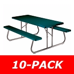 Lifetime Picnic Tables Folding - 2123 6 Ft Hunter Green - 10 Pack