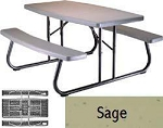 SO 2156 Lifetime 5 ft Sage Folding Picnic Table