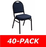 Dome-Back Stacking Chairs National Public Seating 9200F 40 Pack