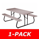 Lifetime Folding Picnic Table 22119 6-Ft Putty Color