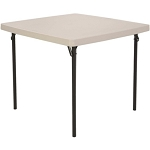 Lifetime Card Table Almond 22301 2301 37 in. Top