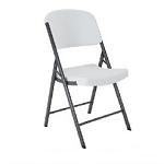 Lifetime Folding Chairs 22803 Lightweight Almond Plastic Chair