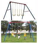 SO Lifetime 253000 Heavy Duty 10 Foot Residential Swing Set