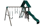 Big Stuff 268001/268000 3 Play Swing set Earth tone Colors Small Deck